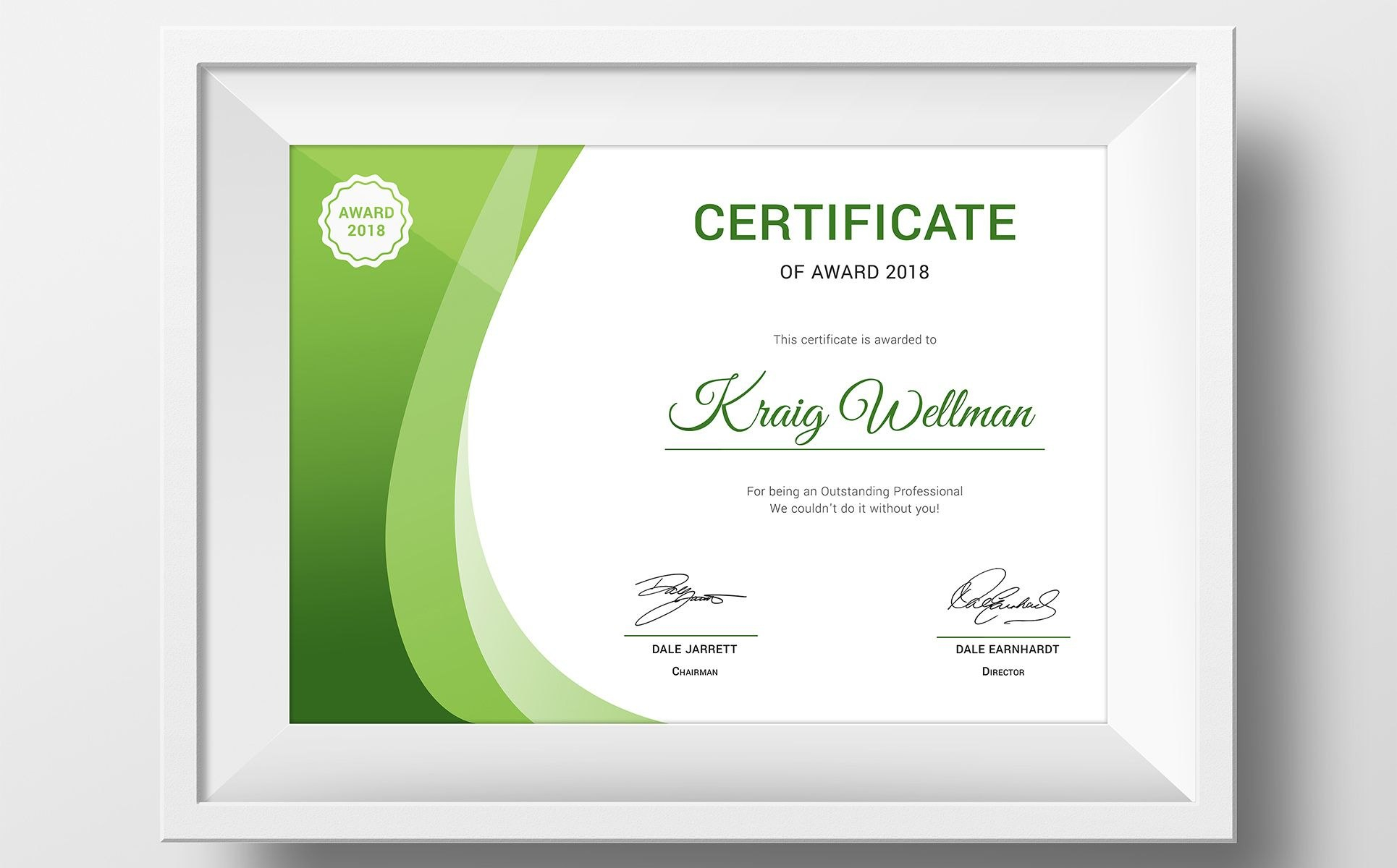 Award Certificate Template   Design Illustration Art With Small Certificate Template