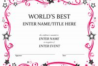 Award Certificate Template Free Best Of Free Funny Award intended for Funny Certificate Templates