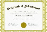Award Certificate Template Free Sample  Get Sniffer throughout Sample Award Certificates Templates