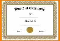 Award Certificates Templates Wordcertificate Award Templates For throughout Blank Award Certificate Templates Word