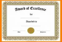 Award Certificates Templates Wordcertificate Award Templates For with regard to Word Certificate Of Achievement Template