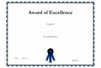 Award Template Certificate Borders Award Of Excellenceis Given Inside Academic Award Certificate Template
