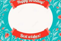 Awesome Free Birthday Card Templates For Word  Best Of Template in Greeting Card Layout Templates