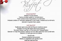 Awesome Free Printable Holiday Menu Template  Best Of Template within Christmas Day Menu Template