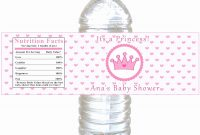 Awesome Free Water Bottle Label Template Baby Shower  Acilmalumat intended for Baby Shower Water Bottle Labels Template