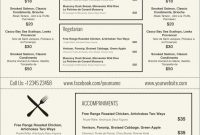 Awesome Free Wedding Menu Templates For Microsoft Word  Best Of for Word Document Menu Template
