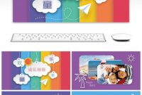 Awesome Happy Baby Baby Growth Album Ppt Template For Unlimited for Powerpoint Photo Album Template