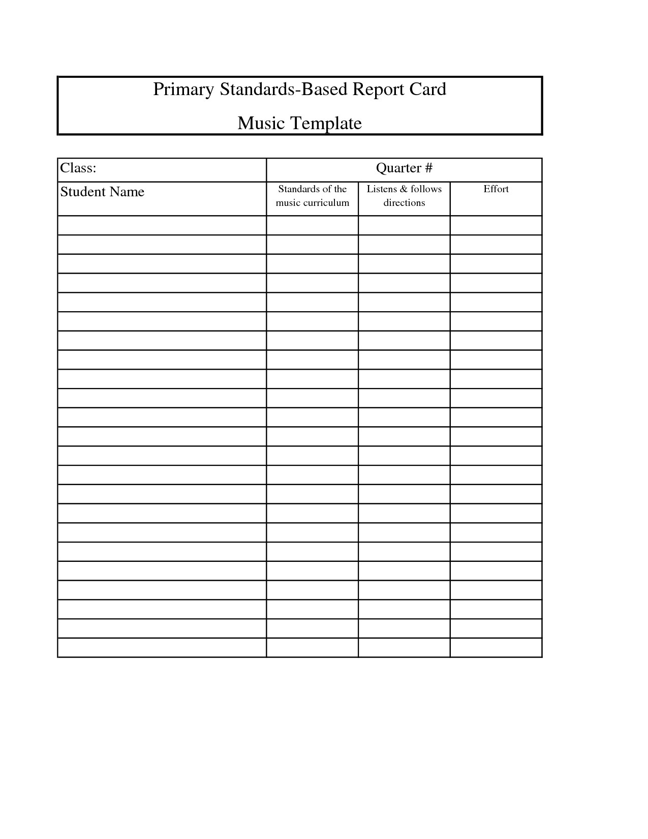 Awesome High School Report Card Template  Wwwpantrymagic Regarding School Report Template Free