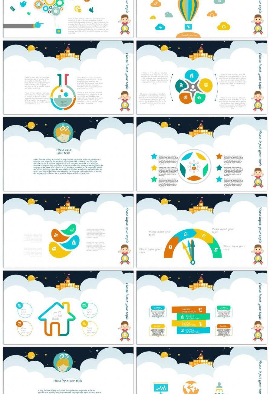 Awesome Lovely Comic Children's Works Report Ppt Template For Within Powerpoint Comic Template