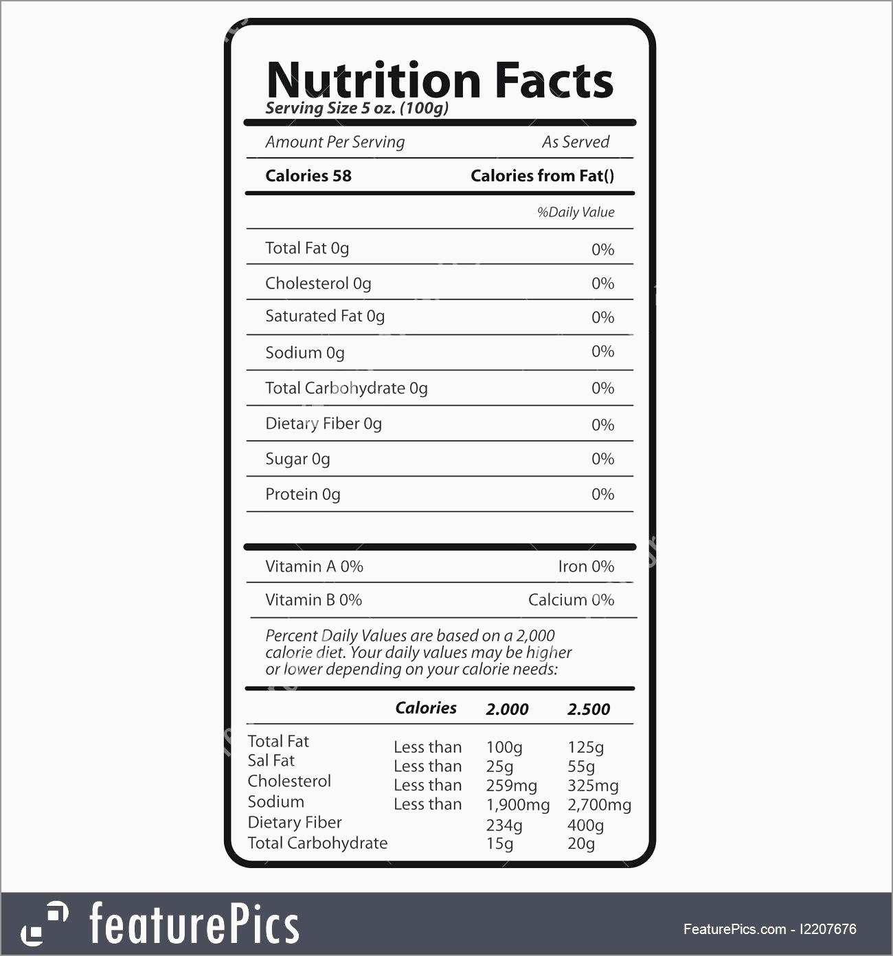 Awesome Nutrition Label Template Free  Best Of Template Intended For Nutrition Label Template Word