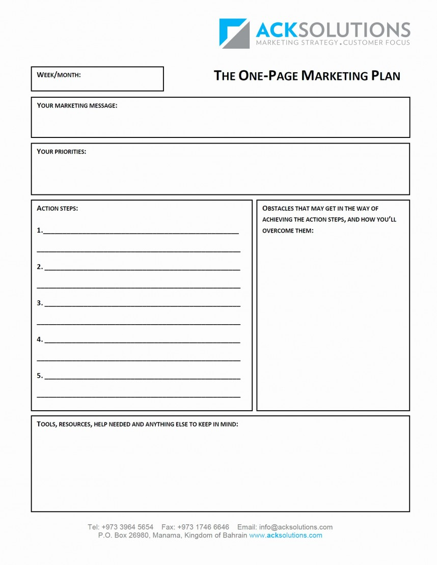 Awesome  Page Business Plan Template Free One Uk ~ Evolutionemerging Inside 1 Page Business Plan Templates Free