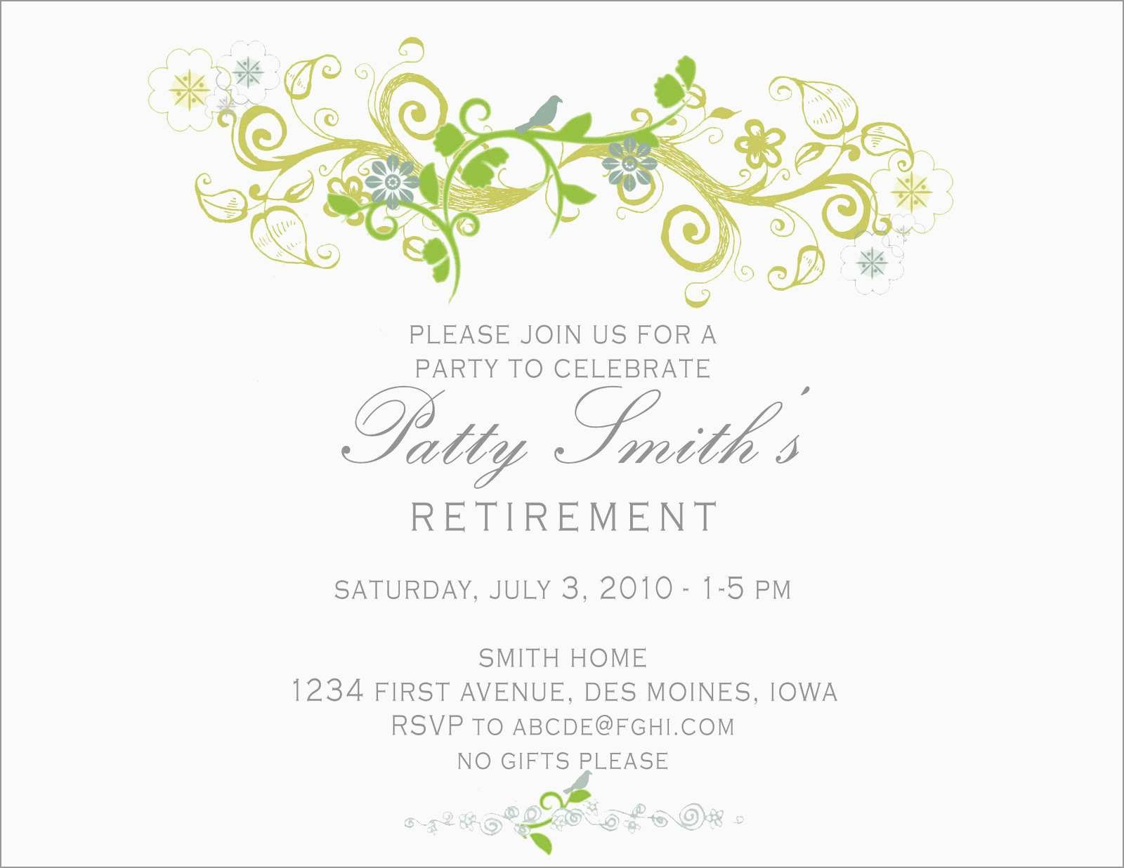 Awesome Retirement Invitation Template Free Download  Best Of Template Inside Retirement Card Template