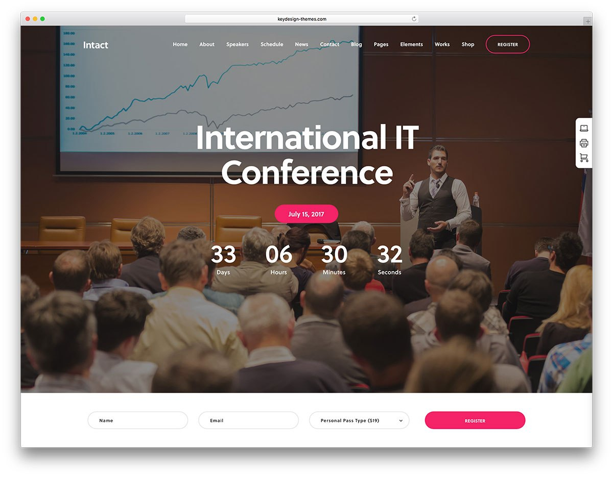 Awesome WordPress Themes For Conference And Events   Colorlib With Save The Date Business Event Templates