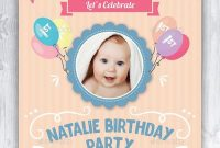 Baby Birthday Card Design Template Indesign Indd  Card  Invite intended for Indesign Birthday Card Template