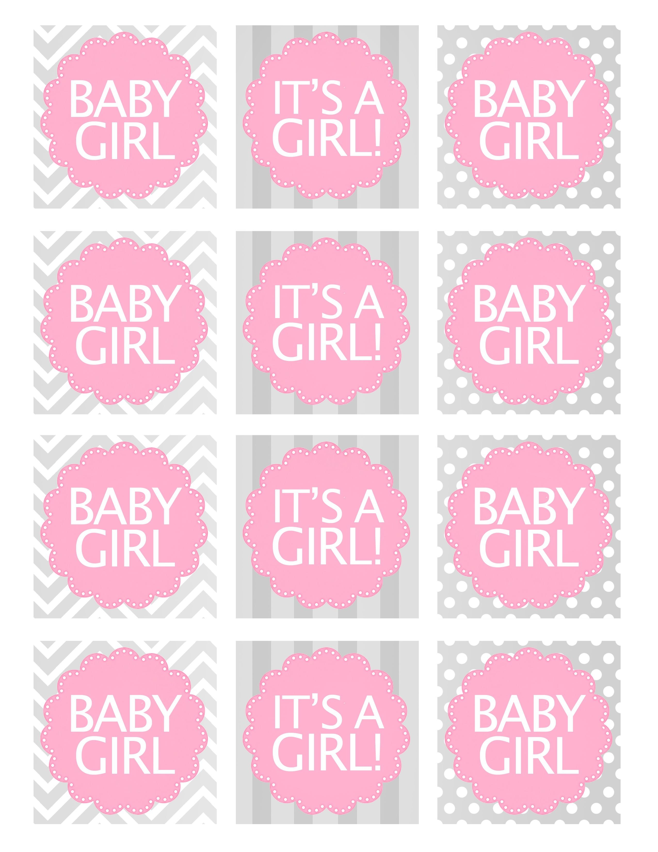Baby Girl Shower Free Printables  Baby Shower Ideas  Free Baby In Baby Shower Label Template For Favors