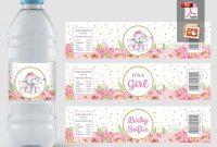 Baby Shower Water Bottle Label Elephant Baby Shower Label Template with Free Custom Water Bottle Labels Template