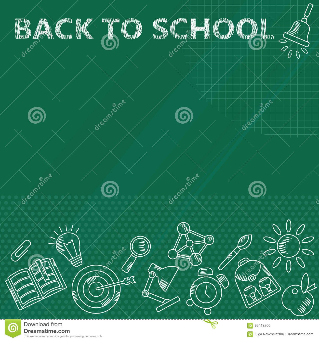 Back To School Banner Stock Vector Illustration Of Accessories Inside Classroom Banner Template