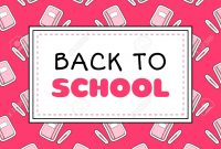 Back To School Banner Template Vector Teenager Girls Concept within College Banner Template