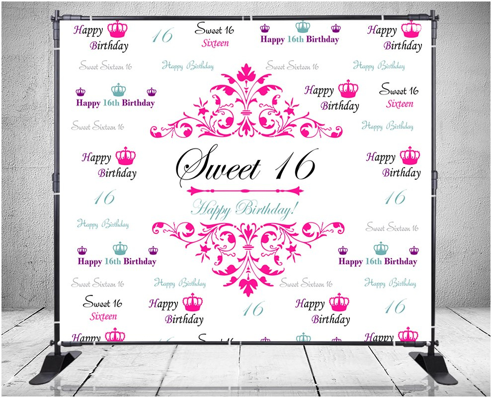 Backdrops  Step And Repeat Banner Printing Company  Signs Nyc In Sweet 16 Banner Template