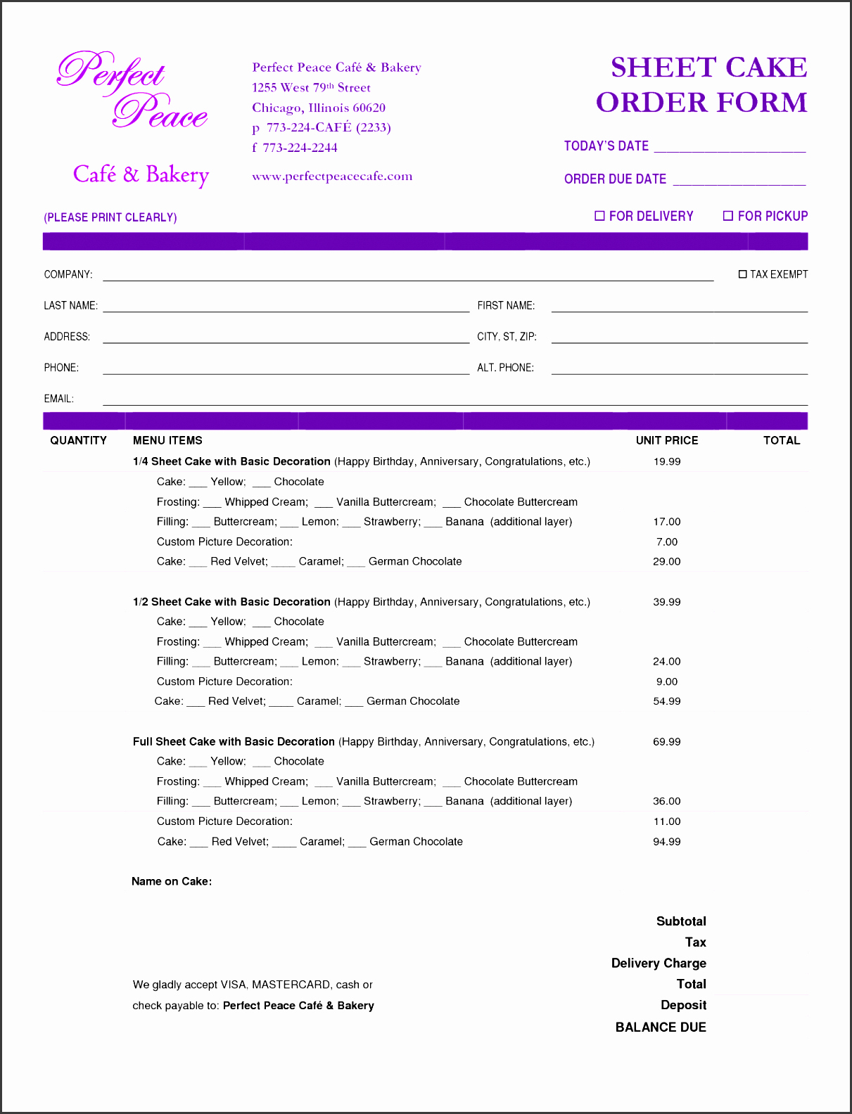 Bakery Invoice Template Free Templates – Wfacca Intended For Bakery Invoice Template