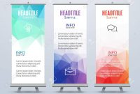 Banner Stand Design Template With Abstract Geometric Background intended for Banner Stand Design Templates
