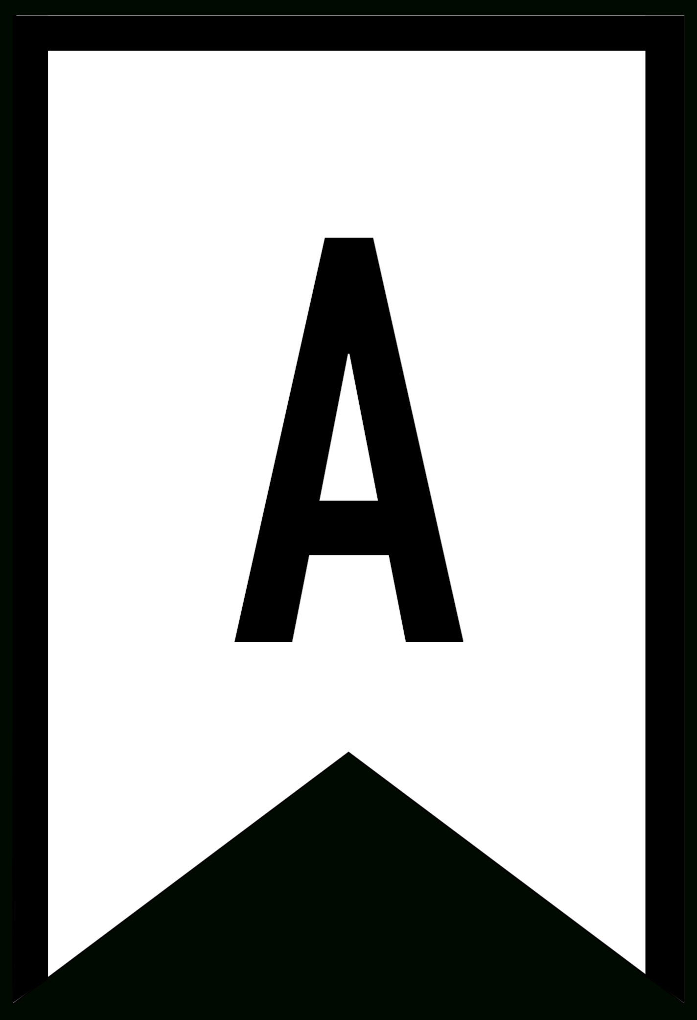 Banner Templates Free Printable Abc Letters  Paper Trail Design Regarding Free Letter Templates For Banners
