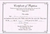 Baptism Certificate Template Free Unique Baptism Certificate throughout Word 2013 Certificate Template
