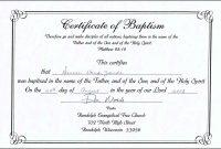 Baptism Certificate Template  Tubidportal regarding Baby Christening Certificate Template