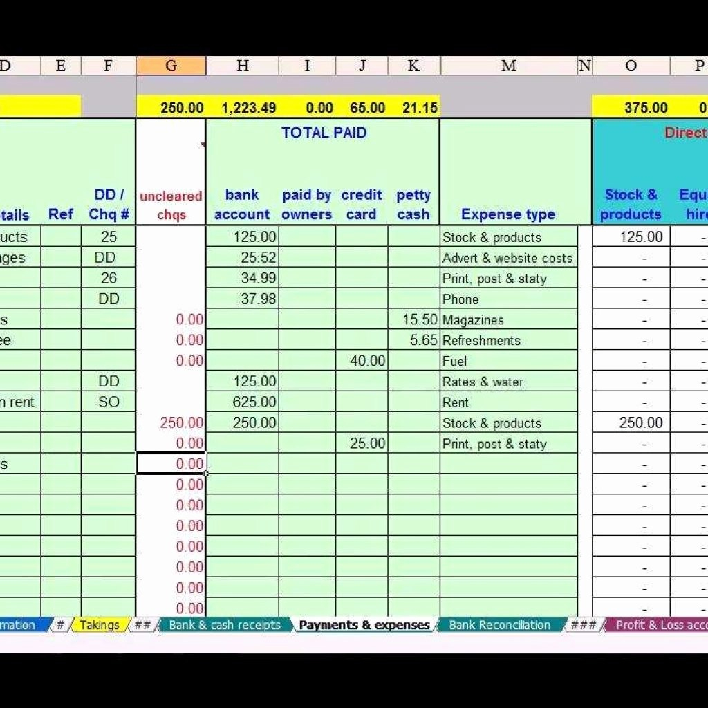 Basic Accounting Spreadsheet For Small Business Free Simple For Excel Templates For Accounting Small Business