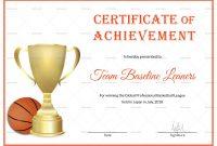 Basketball Achievement Certificate Design Template In Psd Word in Basketball Certificate Template