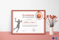 Basketball Award Achievement Certificate Design Template In Word Psd inside Sports Award Certificate Template Word