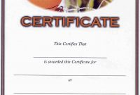Basketball Award Certificate To Print  Activity Shelter regarding Basketball Camp Certificate Template