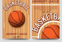 Basketball Flyer Template Free Univercity With Ball Vector with Basketball Camp Brochure Template
