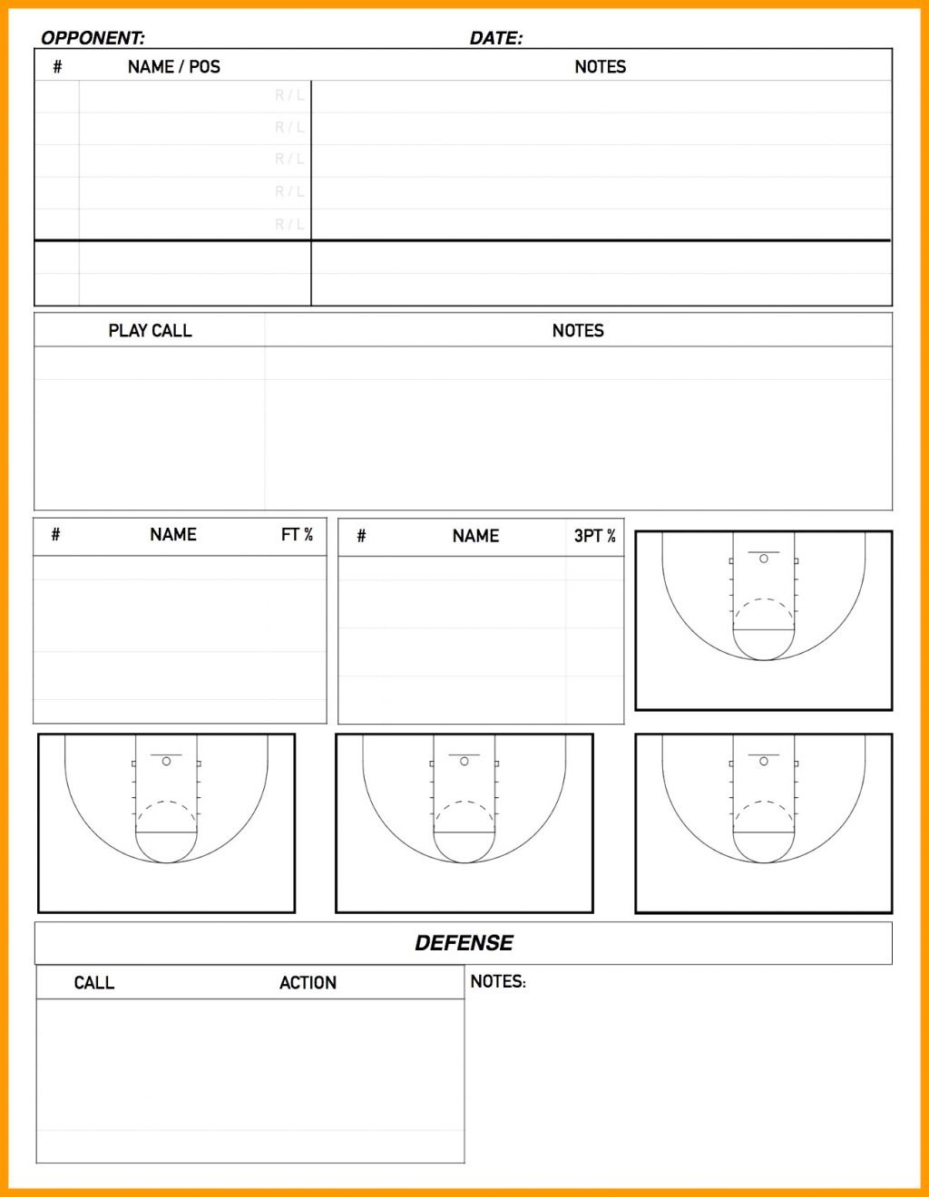 Basketball Scouting Report Sheet Template Excel Simple Ng Printable Inside Basketball Scouting Report Template
