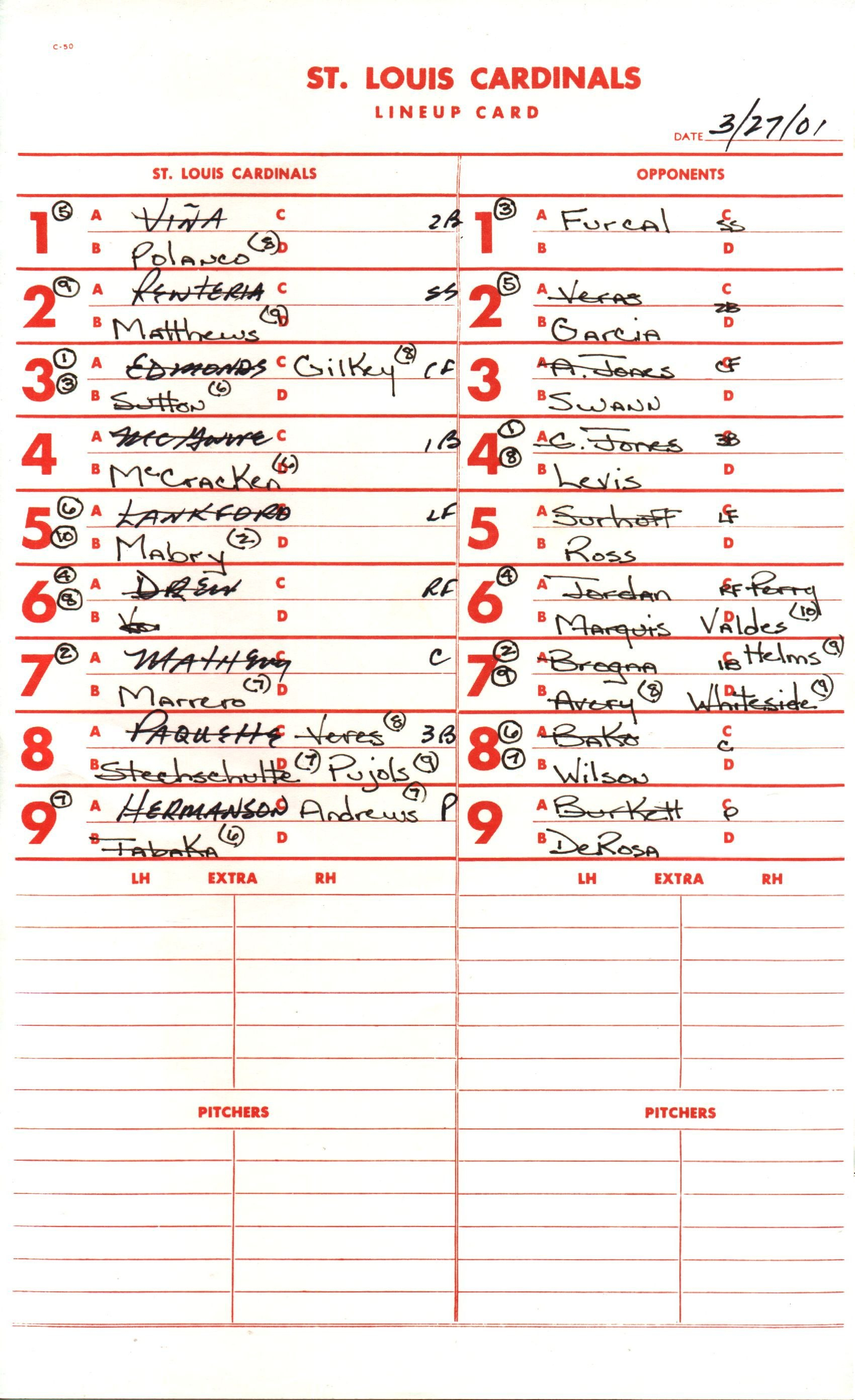Batting Order Baseball  Wikipedia Throughout Free Baseball Lineup Card Template