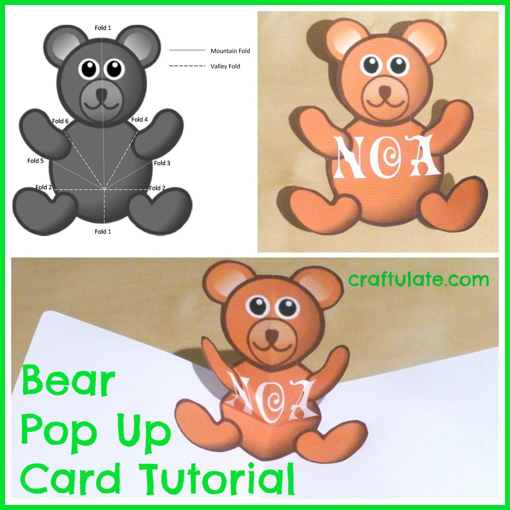 Bear Pop Up Card Tutorial  Craftulate Intended For Teddy Bear Pop Up Card Template Free