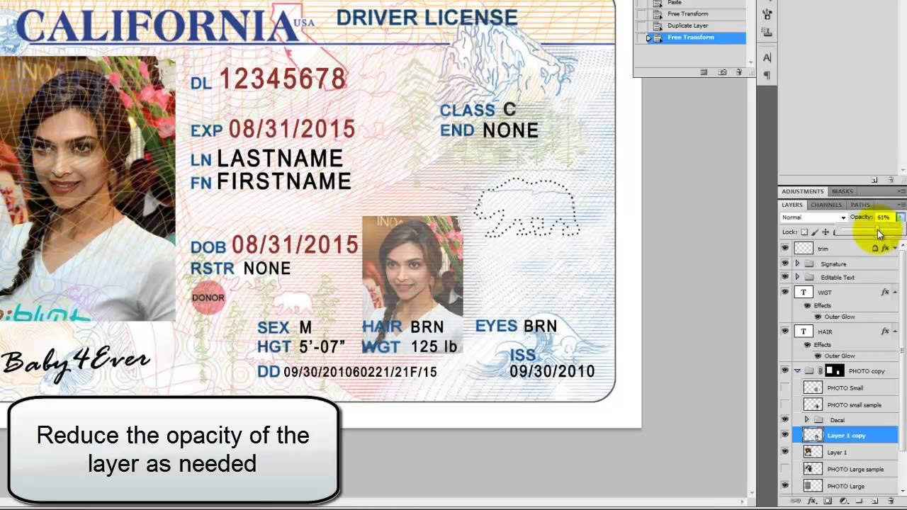 Beaufiful Fake Id Template Images Dawn Gray Dmarie On Pinterest Regarding Georgia Id Card Template