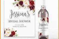 Beautiful Bridesmaid Wine Label Template Free  Best Of Template for Template For Wine Bottle Labels