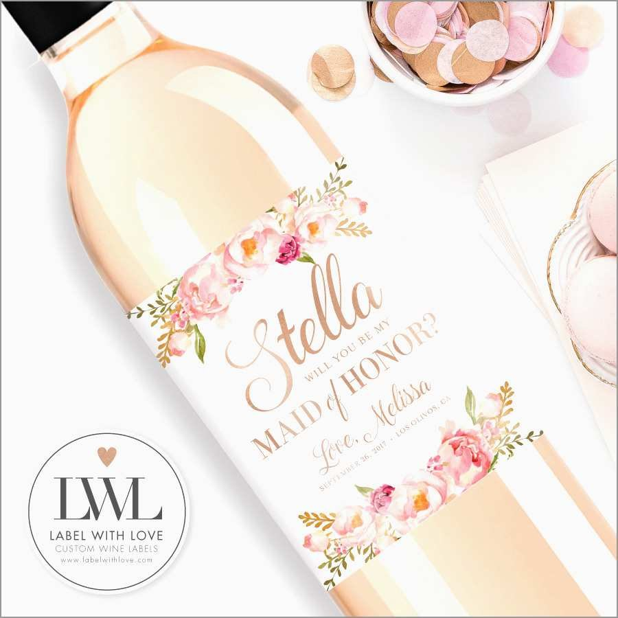 Beautiful Bridesmaid Wine Label Template Free  Best Of Template Pertaining To Pretty Label Templates