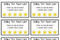 Beautiful Business Punch Card Template Free  Hydraexecutives With Regard To Reward Punch Card Template