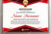 Beautiful Certificate Template Design With Best Award Symbol Ve intended for Beautiful Certificate Templates