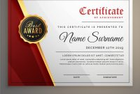 Beautiful Certificate Template Design With Best Vector Image for Beautiful Certificate Templates