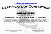 Beautiful Forklift Certification Card Template Free  Best Of Template in Forklift Certification Template
