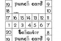 Behavior Punch Card  Classroom Freebies pertaining to Free Printable Punch Card Template