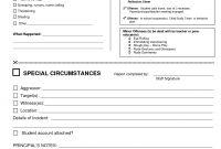 Behavior Report Template  Behavior Report Cc File White Parent in School Incident Report Template