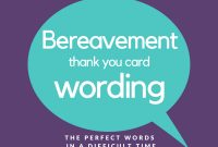Bereavement Thank You Notes  Lovely Wording Examples with regard to Sympathy Thank You Card Template