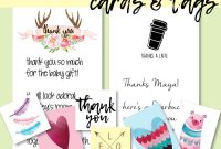Best Baby Shower Thank You Card Wording Ideas  Free Printables with regard to Template For Baby Shower Thank You Cards