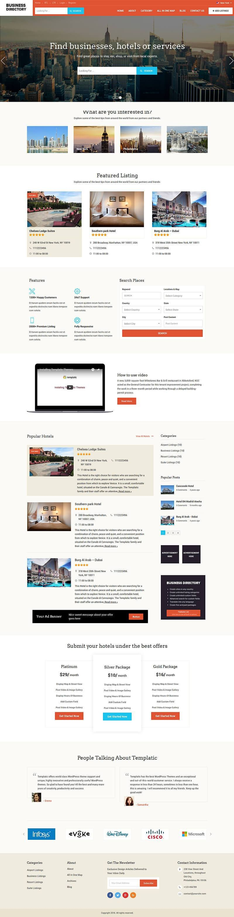 Best Business Directory Software Script  Build Your Own Platform With WordPress Business Directory Template