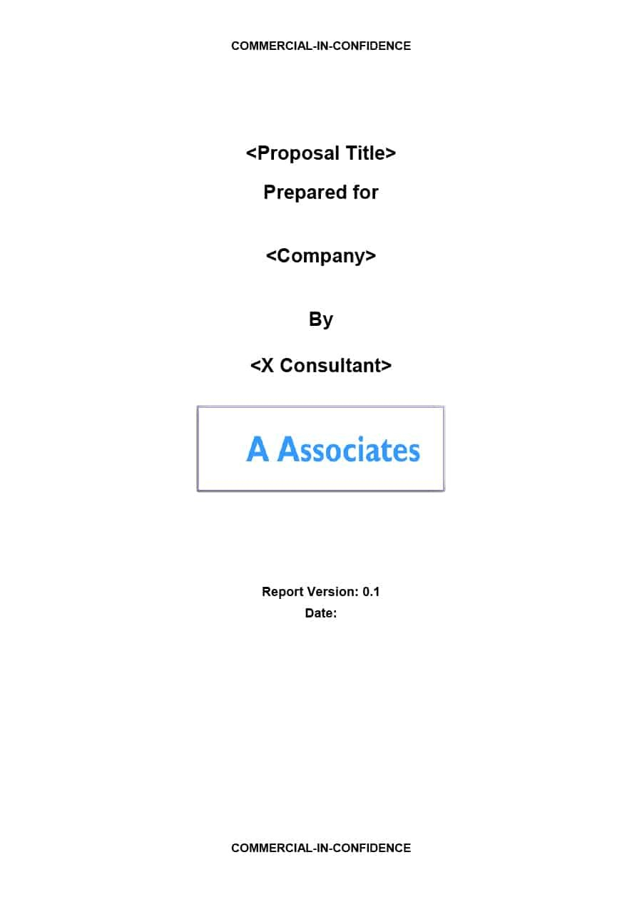 Best Consulting Proposal Templates Free ᐅ Template Lab With Regard To Consultant Report Template