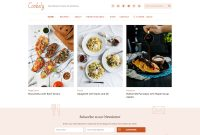 Best Food WordPress Themes For Sharing Recipes   Athemes throughout Blank Food Web Template